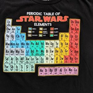 Star Wars T Shirt Periodic Elements Med Unisex